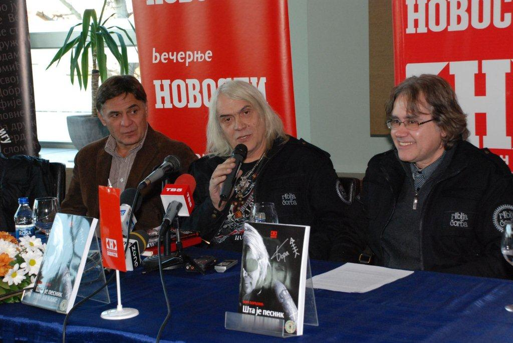 Bora Čorba promovisao svoju knjigu i najavio koncert u Čairu