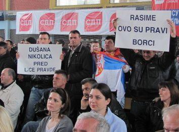Veterani transparentima tražili Ljajićevu podršku