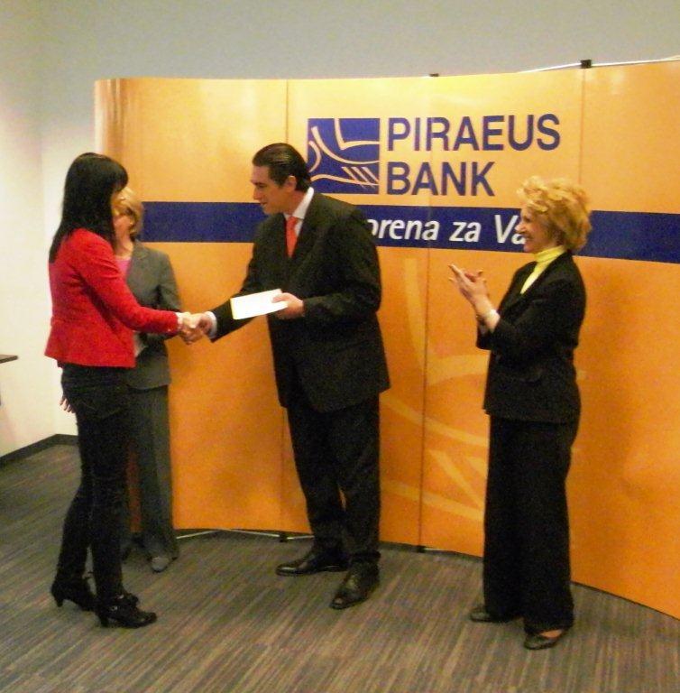 Nagrađeni stipendisti Piraeus banke