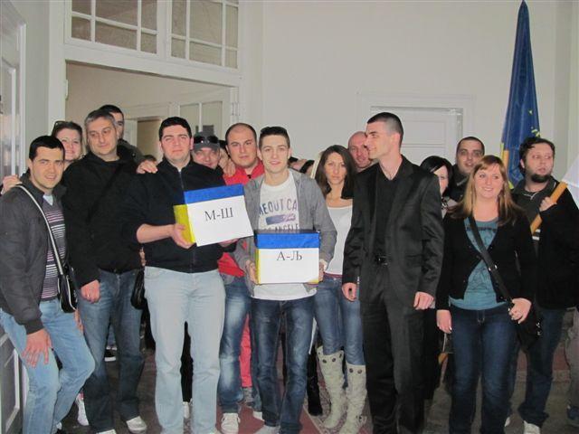 Kocić nosilac liste DS u Leskovcu