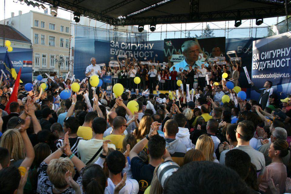 Boris Tadić u Nišu poručio da njegovi protivnici nude neizvestan put