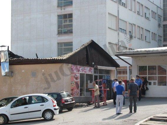 Izgorela prodavnica u bolnici, pacijenti na psihijatriji sakupljali vodu