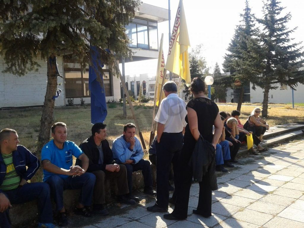 Mašine u Jumku stale protest onemogućen