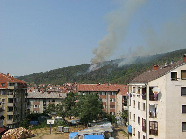 Lokalizovan požar  kod Surdulice