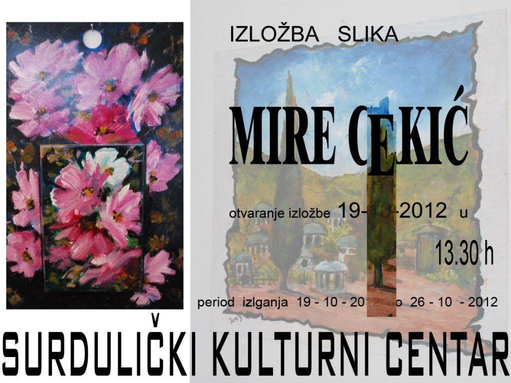 Izložba slika Mire Cekić u SKC