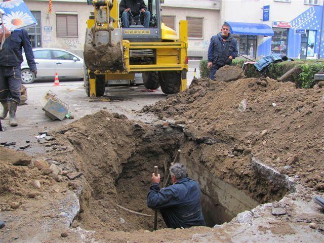 Ulica Moše Pijade u Vranju bez vode