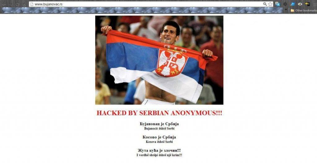 Oboren sajt opštine Bujanovac