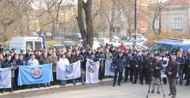 Policajci na protestu tražili bolju opremu i promenu zakona