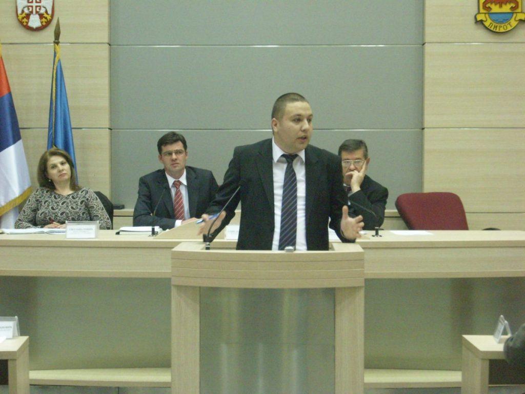 Izabran novi zamenik predsednika SO Pirot
