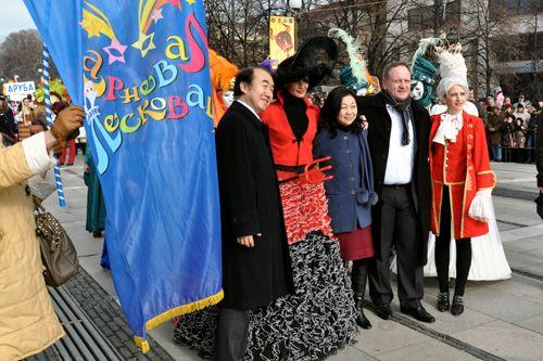 Gradonačelnik Cvetanović na maskaradi u bugarskom Perniku