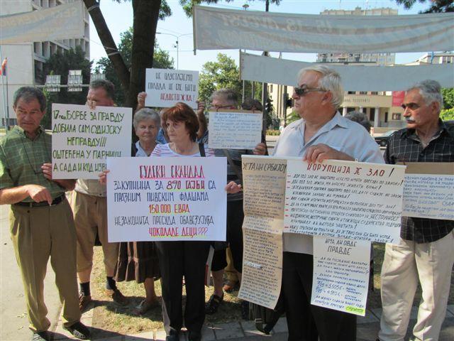Protesti protiv korumpiranog sudstva