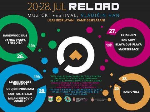 """Bogat program """"Reload"""" festivala"""