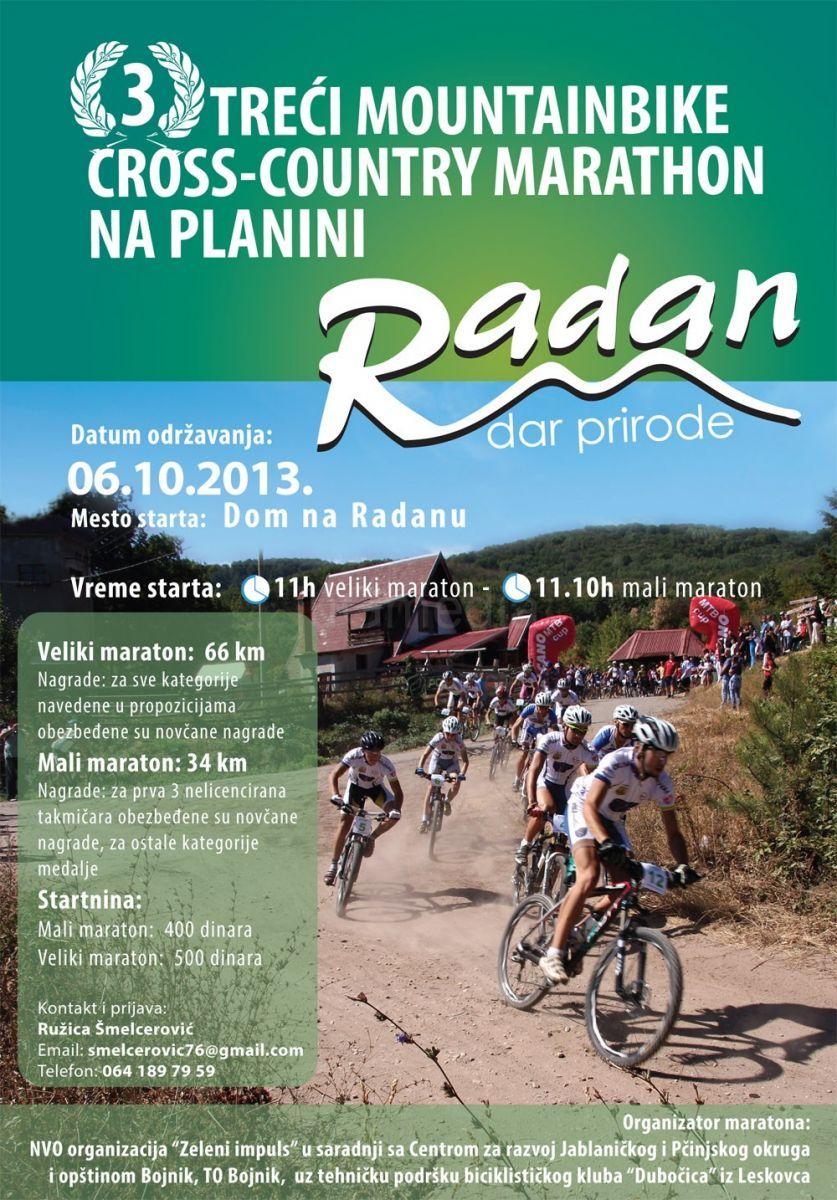 Treći biciklistički maraton na Radan planini