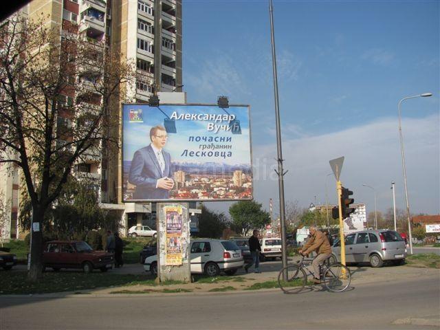 Vučić na bilbordima u Leskovcu