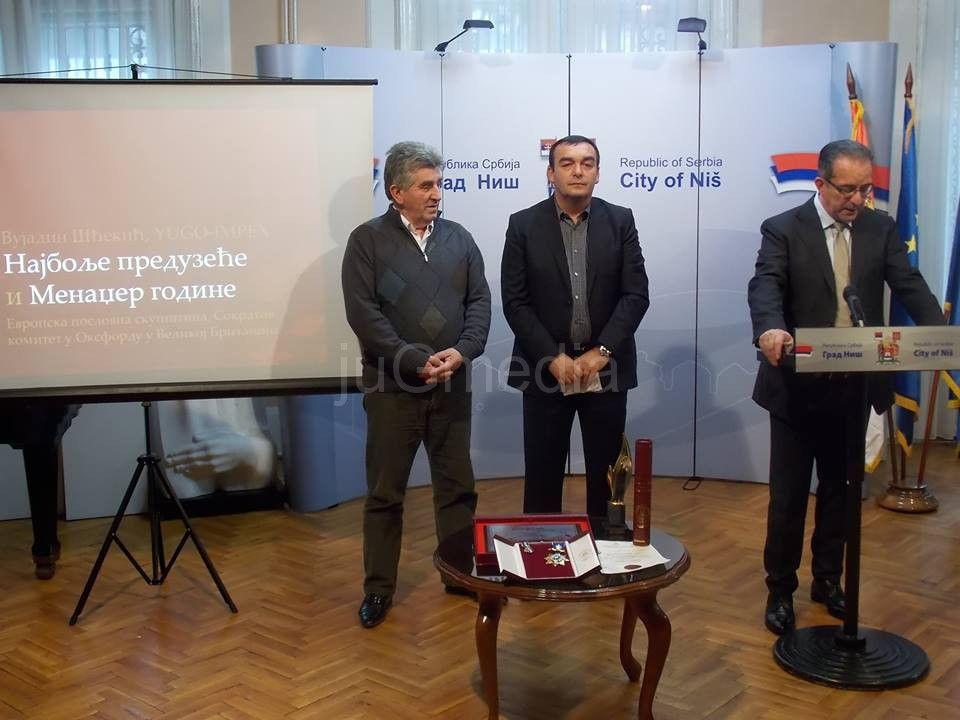 Vujadinu Šćekiću nagrada Evropske poslovne skupštine