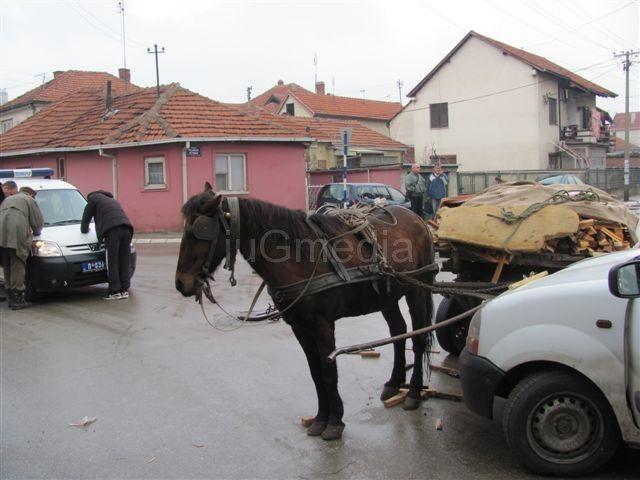 Sudar konjske zaprege s pik-apom