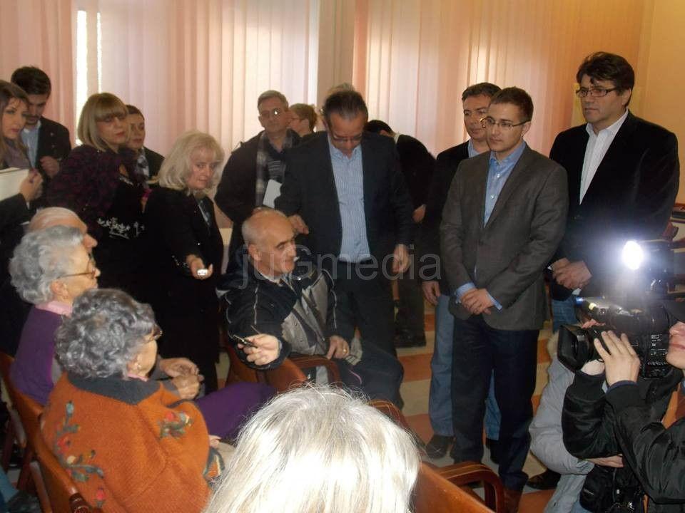 Stefanović i Perišić u Gerontološkom centru