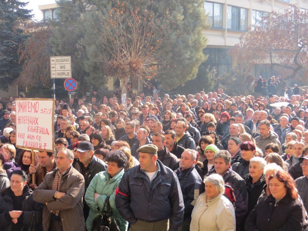 Radikalizacija štrajka u Jumku