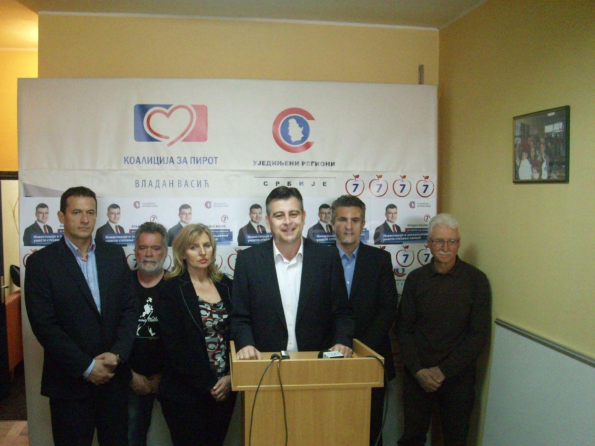 Vasić: Lokalna vlast u Pirotu je stabilna