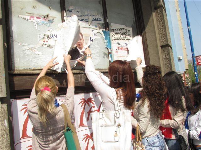 Naprednjaci čiste Leskovac od stranačkih postera