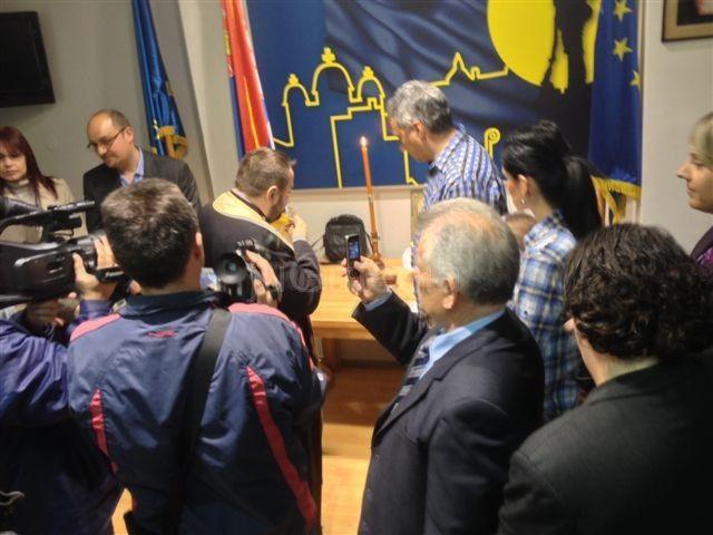 DS u Leskovcu slavila slavu bez rukovodstva i sa gostima iz SNS-a