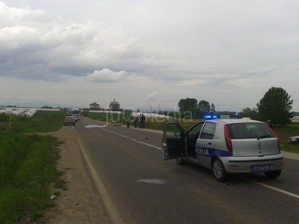 Poginuo biciklista, zaustavljen saobraćaj na putu Leskovac-Vlasotince