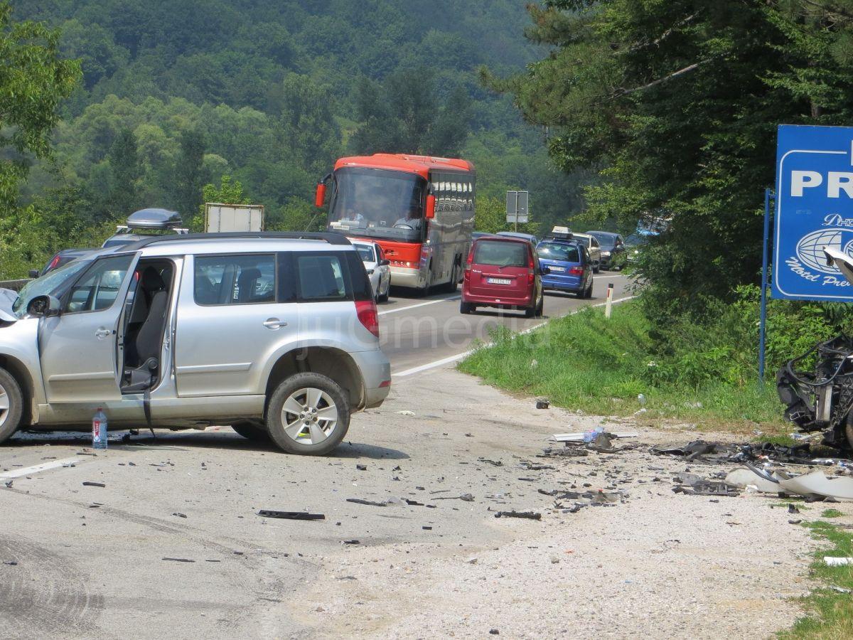 Sedmoro povređenih u osam saobraćajnih nezgoda
