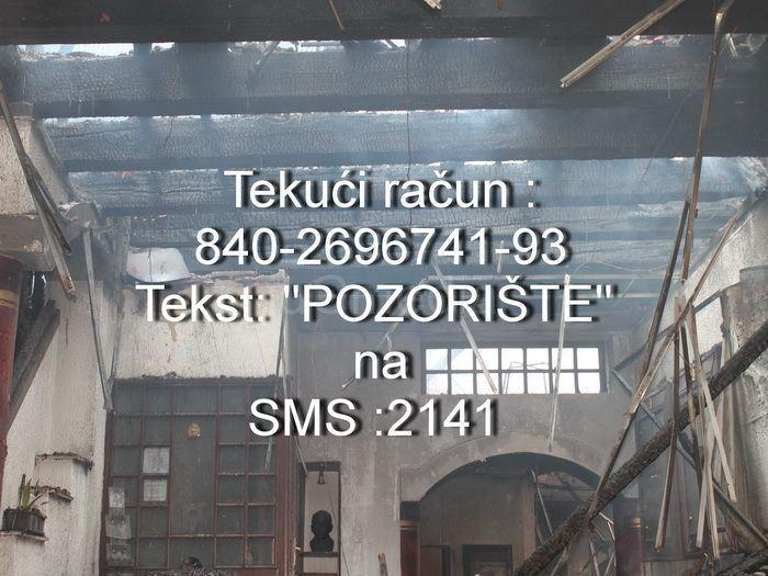 Ponovo aktivan SMS broj za obnovu pozorišta
