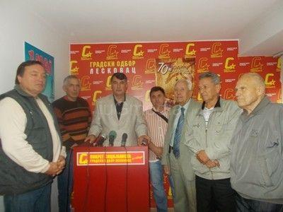 Pokret socijalista u Leskovcu obeležio 11. oktobar