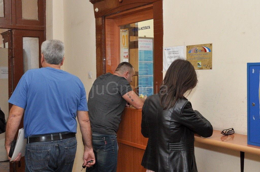 Poštanske usluge u zgradi opštinske uprave