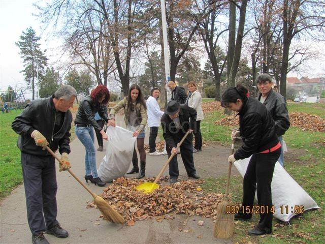 Naprednjaci očistili park od uvelog lišća