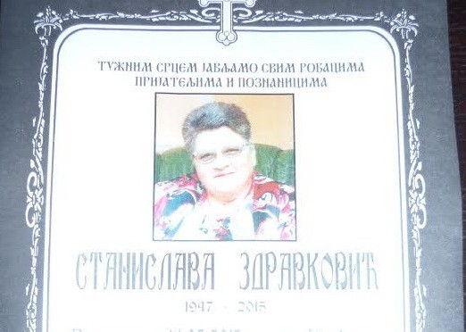 IN MEMORIAM: dr Stanislava Zdravković