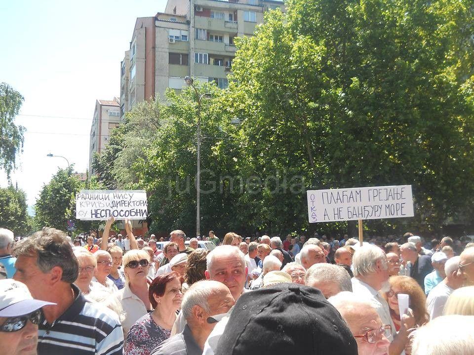"""Više od hiljadu Nišlija protestovalo pred """"Gradskom toplanom"""""""