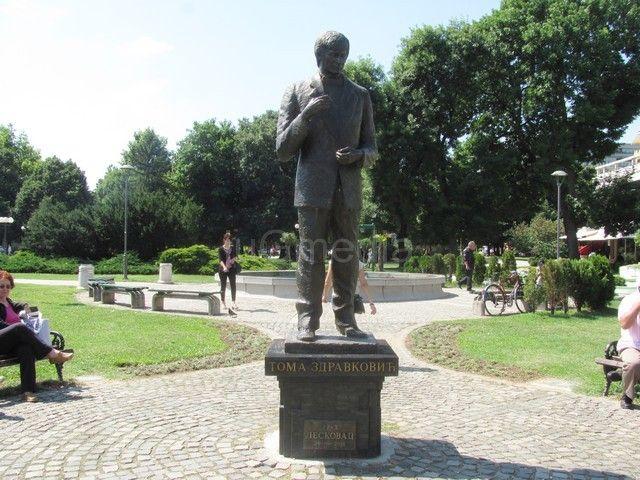 Spomenik Tome Zdravkovića sele iz centra pored reke