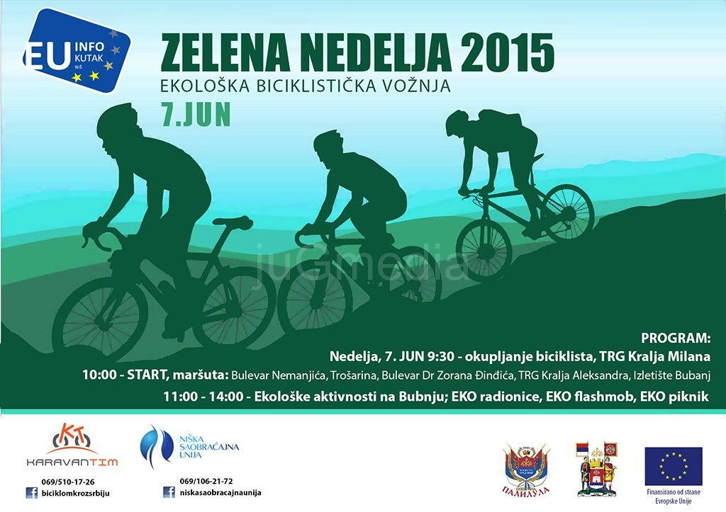 """Ekološka biciklistička vožnja u okviru """"Zelene nedelje"""""""