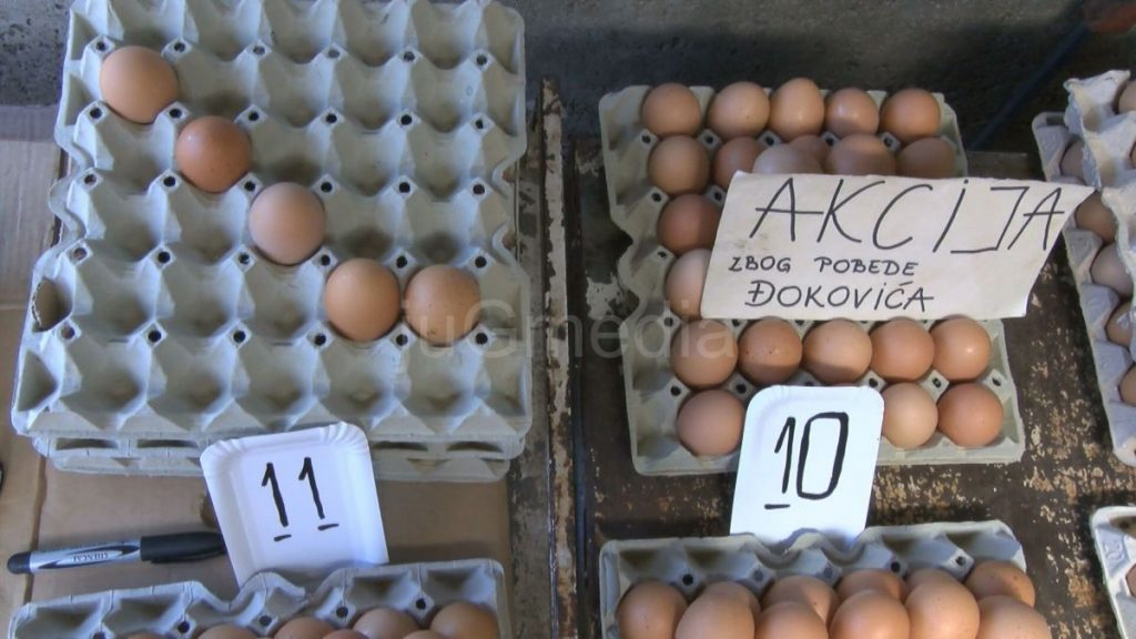 Atrakcija: Novakova jaja za 10 dinara