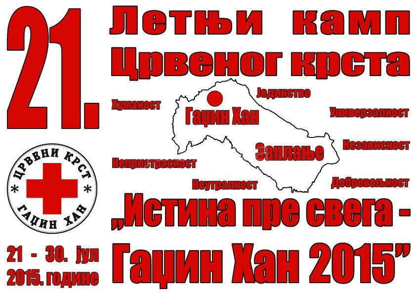 Letnji kamp Crvenog krsta od 21. do 30.jula