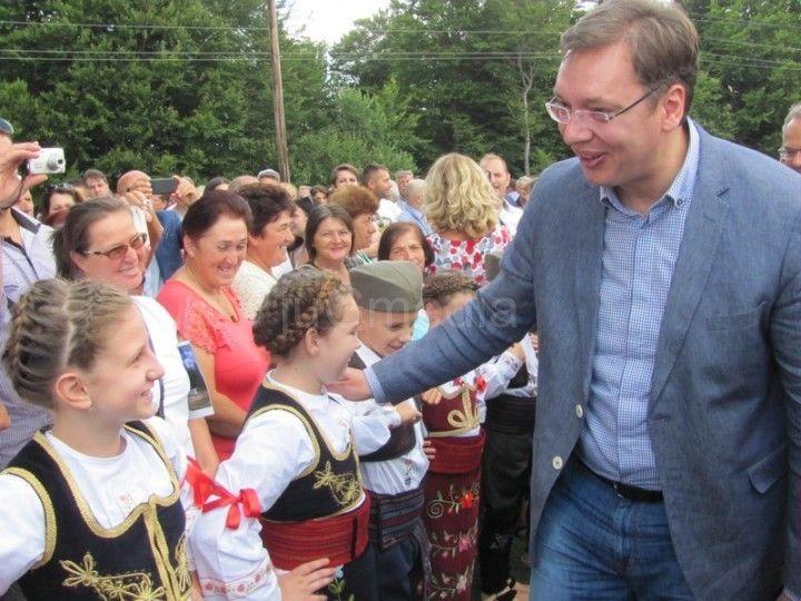 Vučićeva poseta i reakcije  (FOTO)