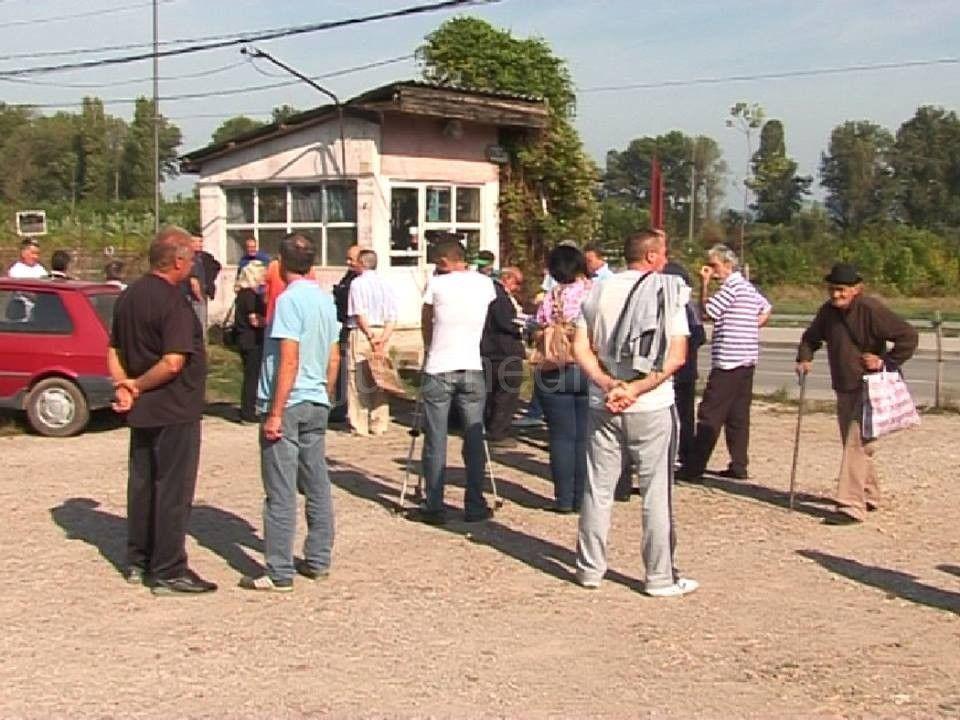 "Protest radnika ""Srbijatransa"" zbog dugovanja države"