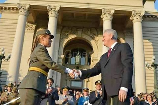 Iva Stankovic i predsednik Nikolic