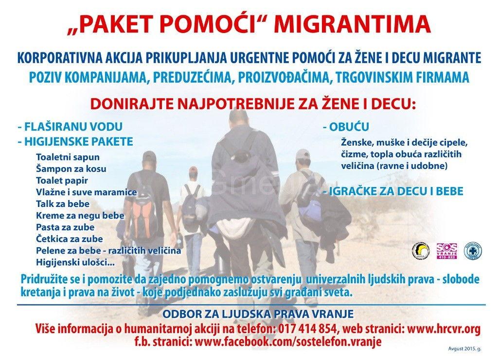 Akcija prikupljanja pomoći za izbeglice