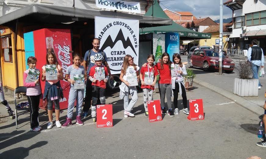 Na slalomu rolerima u Pirotu najbolji Vranjanci