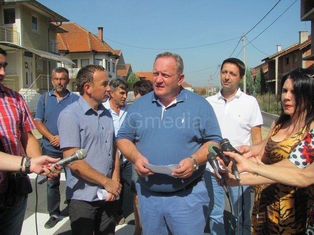 Asfaltiran deo Ulice Kosovskih junaka