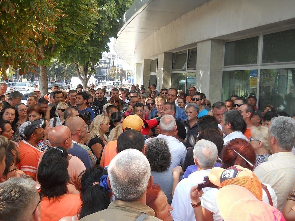 "I radnici JKP ""Medijane"" protestvovali danas"