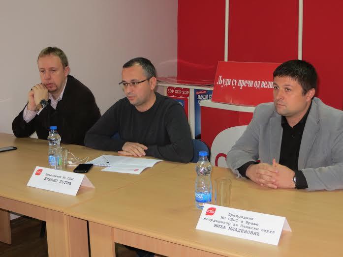 Održan regionalni sastanak SDPS -a u Vranju