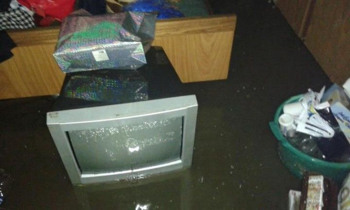 havarija - pliva televizor
