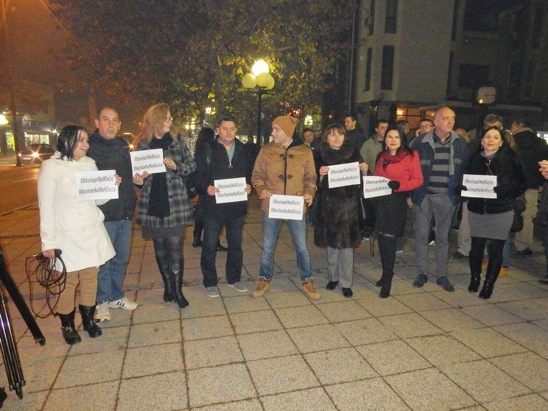 """Sutra u Leskovcu ponovo protest """"Novinari ne kleče"""""""