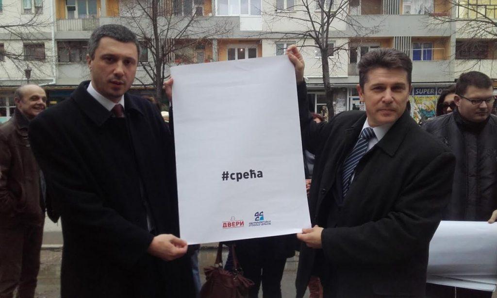 "Dveri krenule u ""srećnu"" kampanju iz Leskovca"
