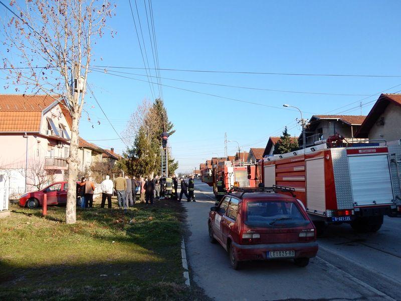 Požar u Ulici Solunskih ratnika