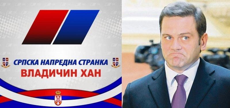 SNS iz Vladičinog Hana optužuje Borka Stefanovića